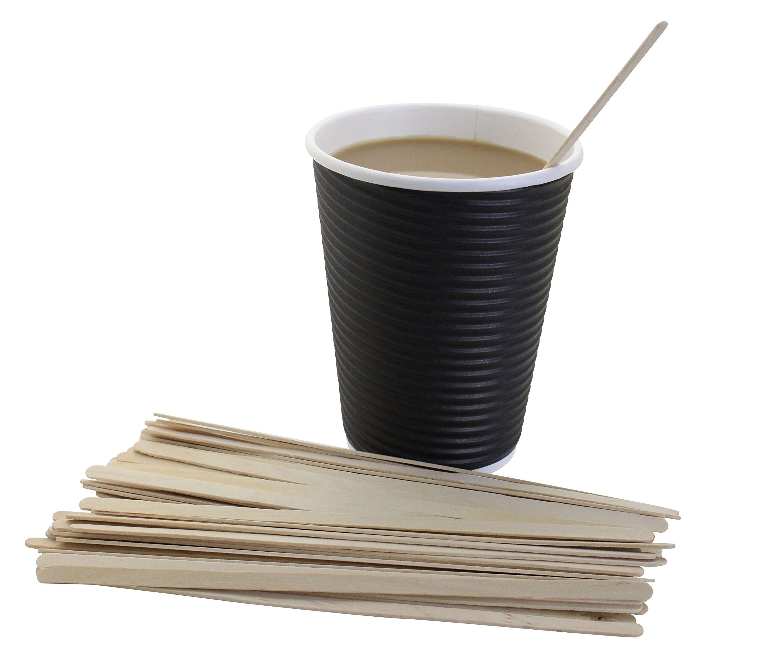 8oz double wall cups – black, box of 500