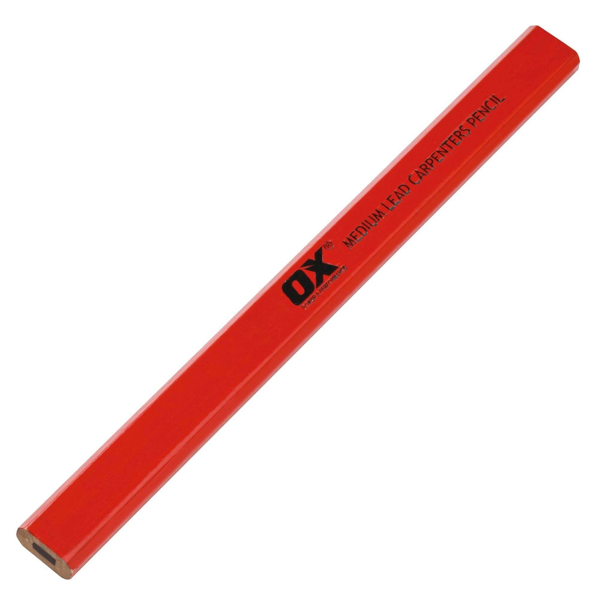 Trade Medium Red Carpenters Pencils 10pk