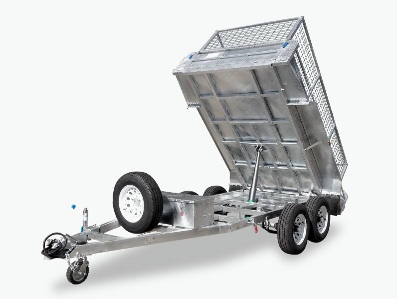2T Hand/Electric Tipping Trailer