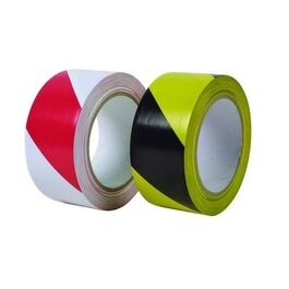 red/white hazard tape - sticky
