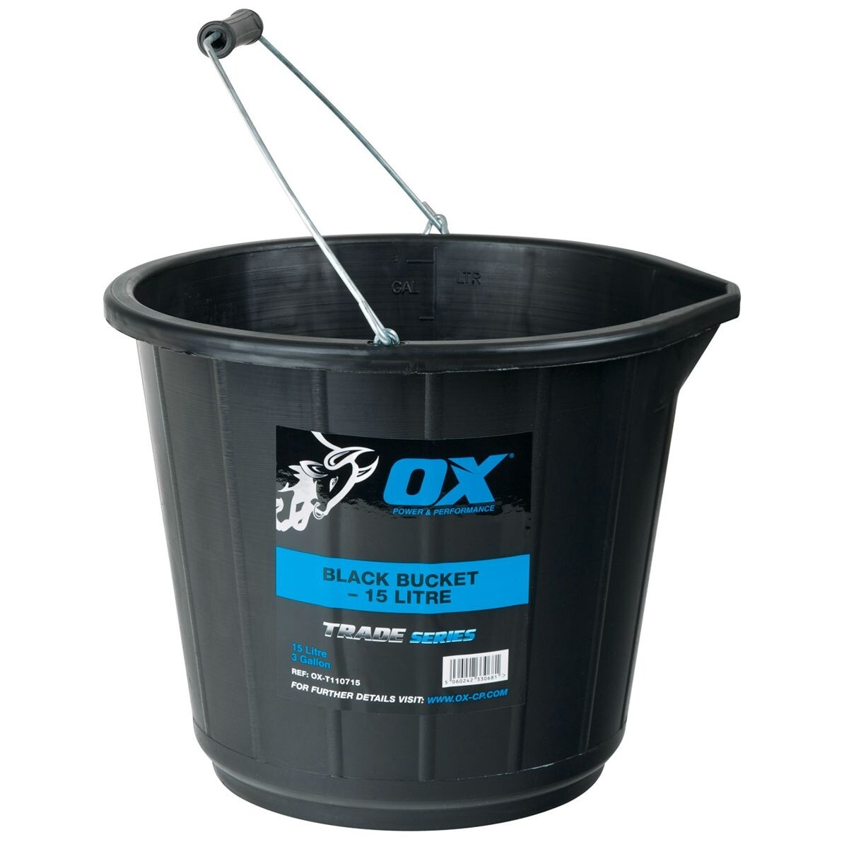 Trade 15L Black Bucket