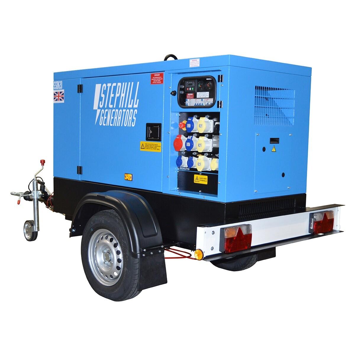 25.0 kva Super Silent Diesel Generator Road Towable
