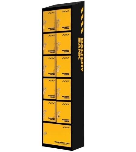 Battery Bank 10 Door Charging Locker