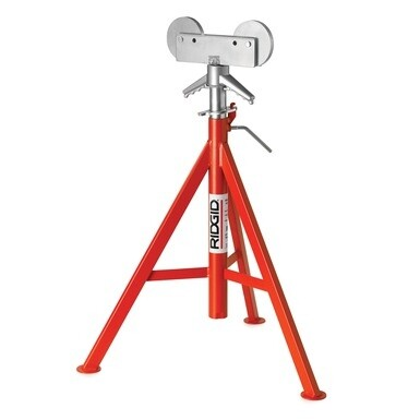 """RJ-98 24"""" - 42"""" Roller Head Low Pipe Stand"""