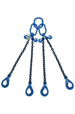 5.3T Grade 100 4Leg Chainsling c/w Safety Hooks