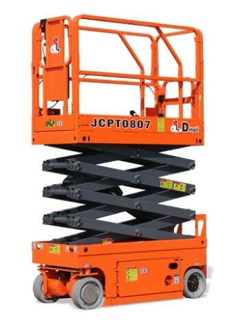 19ft Compact Scissor Lift c/w push out platform