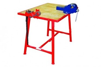 Workbench with Chain Vice and Engineers Vice