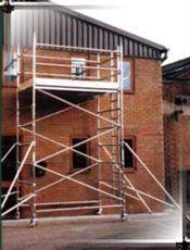 3.5m double width aluminium tower