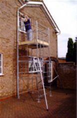 Steel Mobile Access Tower - 4ft x 4ft x 16ft High