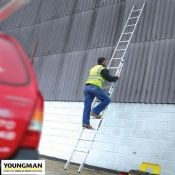 Double 18ft Aluminium Extension Ladder