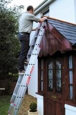 Treble 2.38m Aluminium Extension Ladder