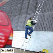 Treble 14ft Aluminium Extension Ladder
