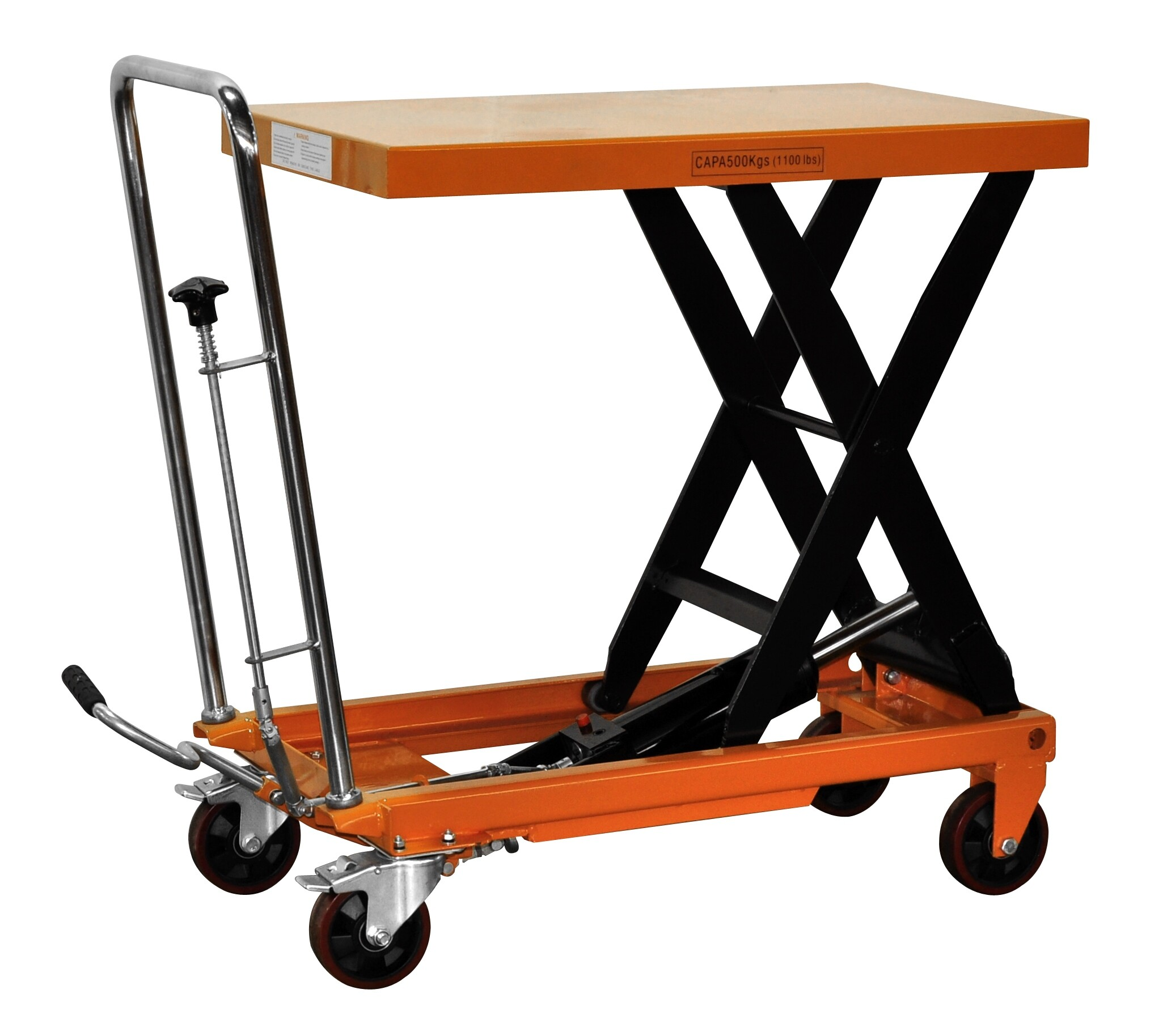 Hydraulic Scissor Lift Table Trolley 500kg SWL