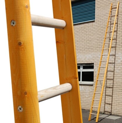 4m Timber Pole Ladder