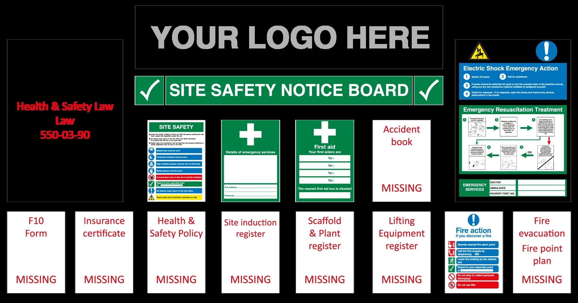 H&S Site Notice Board £165.00