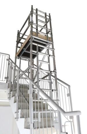 11'ft platform stairwell tower