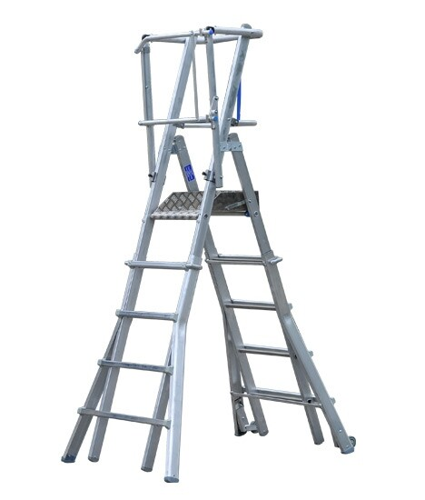 Adjustable Podium Ladder