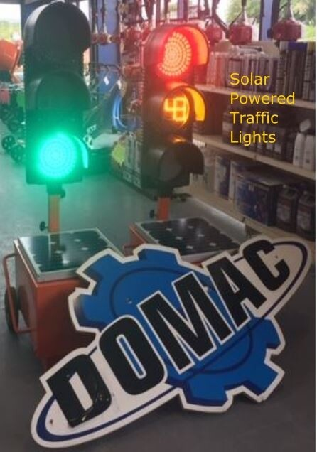Portable Solar Powered Countdown Traffic Lights