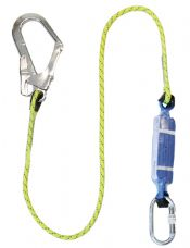 Safety Harness Lanyard 1.75m c/w Scaffold Hook